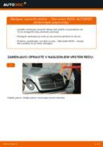 Kako zamenjati in prilagoditi Zavorne Ploščice MERCEDES-BENZ E-CLASS: vodnik pdf