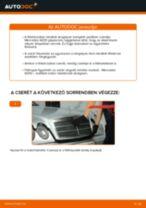 Hátsó féktárcsák-csere Mercedes W210 gépkocsin – Útmutató