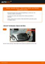 Kā nomainīt: priekšas bremžu klučus Mercedes W210 - nomaiņas ceļvedis