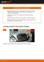 Kaip pakeisti Mercedes W210 stabdžių diskų: galas - keitimo instrukcija