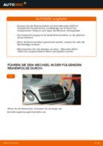 Online-Anteitung: Scheibenbremsen belüftet austauschen MERCEDES-BENZ E-CLASS (W210)