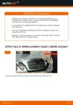 Comment changer : disques de frein arrière sur Mercedes W210 - Guide de remplacement