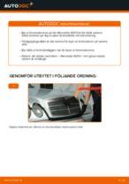 Byta bromsskivor bak på Mercedes W210 – utbytesguide