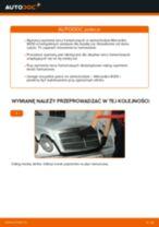Wymiana Tarcza hamulcowa MERCEDES-BENZ E-CLASS: instrukcja napraw