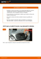 Como mudar discos de travão da parte traseira em Mercedes W210 - guia de substituição