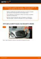 Instalação Calços de travão MERCEDES-BENZ E-CLASS (W210) - tutorial passo-a-passo