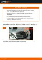 Kuidas vahetada Mercedes W210 taga-piduriketaste – õpetus