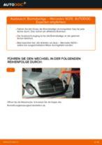 Wechseln von Scheibenbremsbeläge MERCEDES-BENZ E-CLASS: PDF kostenlos