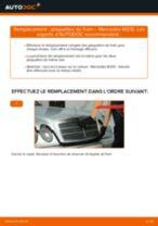 Comment changer : plaquettes de frein arrière sur Mercedes W210 - Guide de remplacement