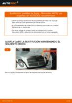 Cómo cambiar: pastillas de freno de la parte trasera - Mercedes W210 | Guía de sustitución