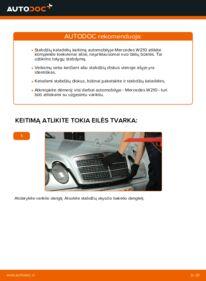 Kaip atlikti keitimą: E 300 3.0 Turbo Diesel (210.025) Mercedes W210 Stabdžių diskas