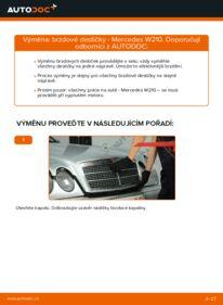 Jak provést výměnu: Brzdové Destičky na E 300 3.0 Turbo Diesel (210.025) Mercedes W210