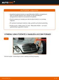 Ako vykonať výmenu: Brzdový kotouč na E 300 3.0 Turbo Diesel (210.025) Mercedes W210
