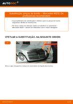 Como mudar pinças de travão da parte dianteira em Mercedes W210 - guia de substituição