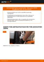 Αντικατάσταση Αμορτισέρ εμπρος MERCEDES-BENZ μόνοι σας - online εγχειρίδια pdf