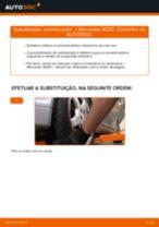 Como mudar amortecedores da parte dianteira em Mercedes W210 - guia de substituição