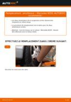 Comment changer : amortisseur arrière sur Mercedes W210 - Guide de remplacement