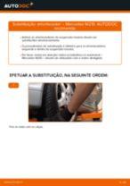 Como mudar amortecedores da parte traseira em Mercedes W210 - guia de substituição