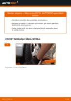 Kā nomainīt: priekšas atsperes Mercedes W210 - nomaiņas ceļvedis