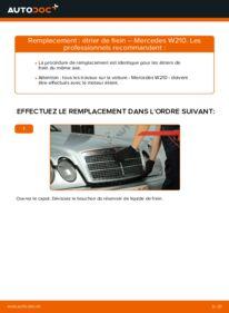 Comment effectuer un remplacement de Étrier De Frein sur E 300 3.0 Turbo Diesel (210.025) Mercedes W210