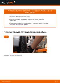 Jak provést výměnu: Tlumic perovani na E 300 3.0 Turbo Diesel (210.025) Mercedes W210
