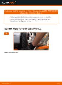 Kaip atlikti keitimą: E 300 3.0 Turbo Diesel (210.025) Mercedes W210 Vikšro Valdymo Svirtis