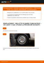 Comment changer : biellette de barre stabilisatrice arrière sur VW Caddy 3 van - Guide de remplacement