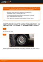 VW CADDY III Box (2KA, 2KH, 2CA, 2CH) Biellette Barra Stabilizzatrice sostituzione: tutorial PDF passo-passo