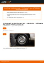 Skifte Styrearm VW CADDY: gratis pdf