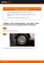 Montáž Rameno stierača skiel VW CADDY III Box (2KA, 2KH, 2CA, 2CH) - krok za krokom príručky