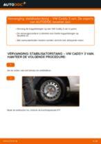 Hoe stabilisatorstang achteraan vervangen bij een VW Caddy 3 van – Leidraad voor bij het vervangen