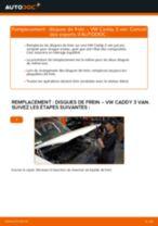 Comment changer : disques de frein arrière sur VW Caddy 3 van - Guide de remplacement
