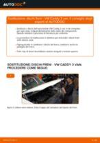 Come cambiare dischi freno della parte posteriore su VW Caddy 3 van - Guida alla sostituzione