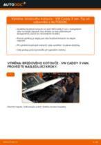 Jak vyměnit zadní brzdové kotouče na VW Caddy 3 van – návod k výměně