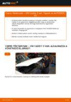 VW Caddy 2 Pickup javítási és kezelési útmutató pdf