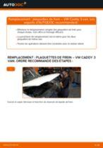 Comment changer : plaquettes de frein arrière sur VW Caddy 3 van - Guide de remplacement
