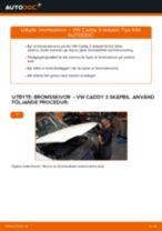 VW CADDY reparera bruksanvisning