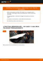Hvordan bytte og justere Glødelampe Nummerskiltlys VW CADDY: pdf håndbøker