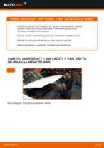VW CADDY Etujarrulevyt ja takajarrulevyt vaihto: ilmainen pdf