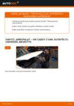 Kuinka vaihtaa jarrupalat taakse VW Caddy 3 van-autoon – vaihto-ohje