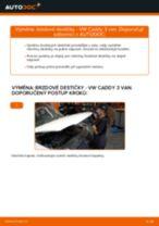 Jak vyměnit zadní brzdové destičky na VW Caddy 3 van – návod k výměně