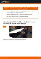 Navodila po korakih za popravilo VW Caddy Pick-up