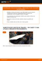 Recomendações do mecânico de automóveis sobre a substituição de VW VW Caddy 3 1.6 TDI Pinças de Travão