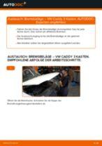 Schritt-für-Schritt-Anleitung im PDF-Format zum Bremsbeläge-Wechsel am VW CADDY III Box (2KA, 2KH, 2CA, 2CH)