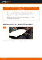 Jak vyměnit přední brzdové destičky na VW Caddy 3 van – návod k výměně