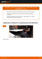 Kako zamenjati in prilagoditi Blažilnik VW CADDY: vodnik pdf