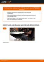 Kuidas vahetada ja reguleerida Amort VW CADDY: pdf juhend
