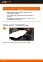 VW CADDY Stabdžių Kaladėlės keitimas: nemokamas pdf