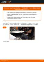 Montáž Pružina VW CADDY III Box (2KA, 2KH, 2CA, 2CH) - krok za krokom príručky