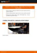 Jak vyměnit přední uložení tlumiče na VW Caddy 3 van – návod k výměně